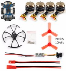 DIY Mini Quadcopter with Camera Drone 4in1 F3 Flight Controller with ESC SE1104 7500KV Brushless Motor Q25 800tvl VTX+CAMERA
