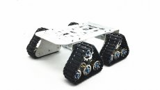 4wd Metal Tank Smart Crawler Robotic Chassis for DIY RC Robot Toy Car 25.5x25x23cm