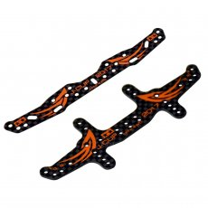 DIY TAMIYA MINI 4WD Car Model Accessories 1.5MM Printing Carbon Fiber Head and tail Orange