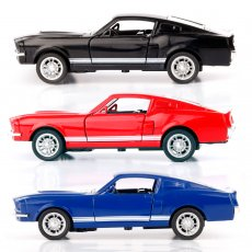 JMT Brand Car GT500 1:32 Alloy Diecast Metal Pull Back Car Door Openable Mini Race Sport Cars Toys for Boy Gift Collection