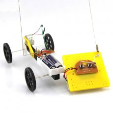 DIY 2 Channel 2CH Remote Control Car Plastic Chassis Unassemble Toys Robot Car Technology 4WD Small Car Model Chidren Gift