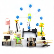 8in1 Manual Handmade Assembly Model Material Block Children Educational Technology Puzzle Small Toys DIY Set Solar / Electricity