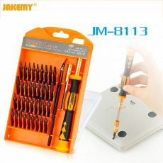 JAKEMY JM-8113 Precision Screwdriver Set Hand tools 39 in 1 Screw Disassemble hardware screwdrivers repair tool for Laptop phone