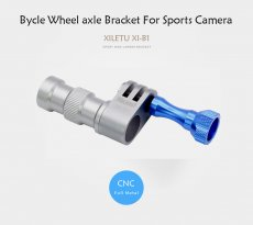 XILETU XI-B1 Bicycle Wheel Bracket Holder Connector Mount For GoPro Hero 3 4 Xiaomi Yi Sports Camera Bike Hub Interface 5mm