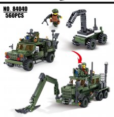 KAZI Military Educational Building Blocks Toy for Children Gifts Army Car Plane Weapon Action Figures Compatible with Legoe City