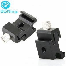 BGNING Metal Camera Flash Hot Shoe Mount Adapter with 1/4 Screw Adapter Seat Block to Flash Bracket Holder for Camera Tripod