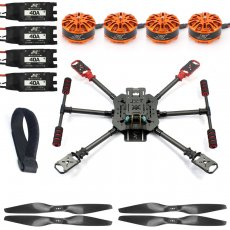 QWinOut DIY X4 560mm Full Carbon Fiber Foldable Frame Kit with Foldable Landing Gear 3508 580KV Powerful Motor 40A ESC 1455 Carbon Fiber Propellers Hobby RC Quadcopter