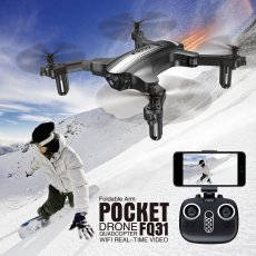 FQ777 FQ31 Folding Drone Remote Control Aircraft 0.3MP WIFI Camera RC Mini Quadcopter
