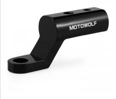 MOTOWOLF Motorcycle Modified Extension Bracket Mirror Mount Bracket Heightening Widening Extension Rods