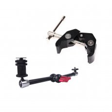 BGNING Adjustable Friction Articulating Magic Arm Super Clamp With 11 Inch Magic Arm Kit for DSLR Camera