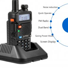 Baofeng DM-5R Portable Radio VHF UHF Dual Band DMR Digital Anolog dual mode 5W 128CH Walkie Taklie Flashlight DM5R Transceiver