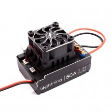 Flycolor Lightning Series Car ESC 60A 80A 120A Brushless Electronic Speed Controller 2-3S for RC Speeding Car Models