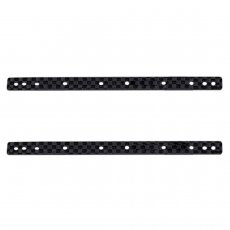 2pcs 1.5MM Carbon Fiber Lengthened Ice Cream Bar DIY TAMIYA MINI 4WD Car Model Accessories Black