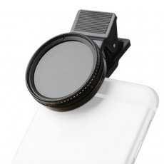 Zomei Adjustable 37mm Neutral Density Clip-on ND2 - ND400 Phone Camera ND Filter Lens for iPhone Huawei Samsung Android Mobile