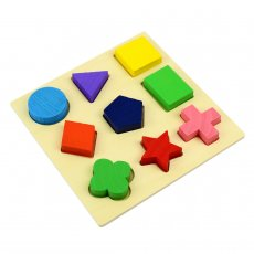 Hot Sales Kids Baby Wooden Learning Geometry Educational Toys Puzzle Montessori Early Learning