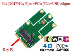 XT-XINTE NGFF M.2 to MiniPCIE Key E miniPCI-E mPCIE Slot PCIe + USB Adapter Wifi + Bluetooth Mini Adapter Card for Desktop Laptop