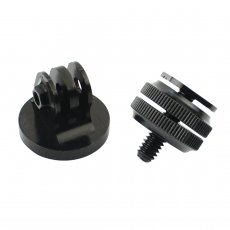 1/4 Inch Tripod Mount Screw to Flash Hot Shoe Adapter With Aluminium Tripod Mount for Sports Camera