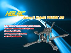 HGLRC Arrow3 3 inch Hybrid FRAME Kit Arm 4mm for DIY FPV Racing Drone RC Quadcopter Models Spare Part