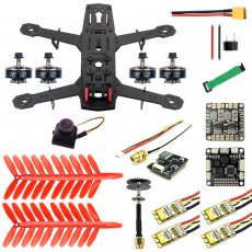 JMT 250 DIY FPV Quadcopter Camera Drone Kit 250MM Carbon Fiber Frame SP Racing F3 FC Flycolor Raptor BLS Pro-30A ESC 700TVL Camera HGLRC GTX226 V2 VTX