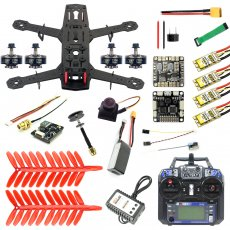 JMT 250 Full Set DIY FPV Quadcopter Camera Drone 250MM Carbon Fiber Frame SP Racing F3 FC Flycolor Raptor BLS Pro-30A ESC 700TVL Camera HGLRC GTX226 V2 VTX 11.1V 1500MAH 40C Battery FS I6 TX