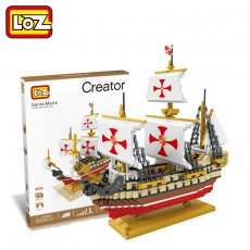 LOZ Santa Maria Sailing Ship Boat Figure Mini Diamond Building Nano Block Toy