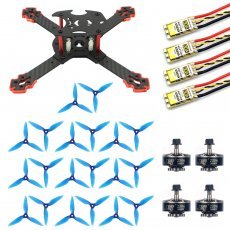 JMT J205 205mm 3mm Arm Carbon Fiber Frame Kit with 30A ESC 2306-2400kv 3-4S Motor Props for DIY RC Quadcopter Mini FPV Drone