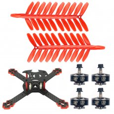 JMT J205 205mm 3mm Arm Carbon Fiber Frame Kit with 2306-2400kv 3-4S Motor Props for DIY RC Quadcopter Mini FPV Drone