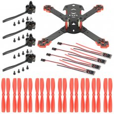JMT J205 205mm 3mm Arm Carbon Fiber Frame Kit with 20A ESC 2204-2300KV Motor Props for DIY RC Quadcopter Mini FPV Drone