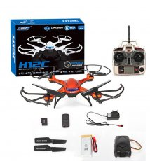JJRC H12C 2.4G 4CH 6-Axis RC LED Quadcopter Drone Helicopter With 300M Remote Distance Can Choose HD 5MP Camera