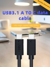 JEYI USB3.1 C TO C Charging Cable 10G High-Speed Line GEN2 TYPEC to type-c /Type-C to Type-A Dataline for Type C Device