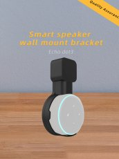 Mingchuan Secure and Stable Outlet Wall Mount Holder for Echo Dot 3rd Generation Smart Home Speakers Perfect Release of Desktop Space Hide Messy Wires (Black)