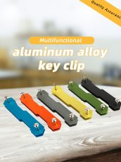 1x Aluminum Alloy Keychain Flexible Key Holder Clip Aluminum Keys Organizer Folder Keys Wallet Gadget Outdoor Camp Tools Kit
