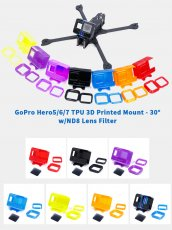 iFlight TPU 3D Printed FPV Camera Mount 30° with ND8 Lens Filter for GoPro Hero 5 6 7 Action Camera FPV Racing Drone Cinewhoop