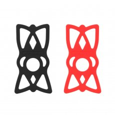 GUB 115mm*62*2mm Black/Red Environmental Protection Silicone Strap For All Mobile Phones​