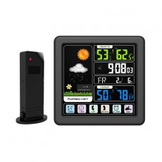 Mingchuan Digital Wireless Weather Station Large LED Color Full Touch Screen Wireless Weather Clock Multi-Function Indoor and Outdoor Temperature Hygrometer Clock