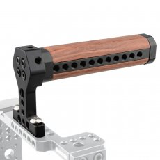 BGNING Camera Wooden Top Handle Grip Cold Shoe 1/4 -20 Mount for Camera Cage