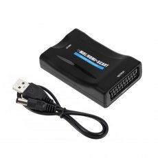 XT-XINTE 1080P HDMI To SCART Converter Cable Audio Video Adapter For HDTV DVD SKy PS3 WS​