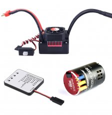 Hobbywing QUICRUN 3650 Sensored 17.5T 2-3S Racing Brushless Motor with 60A Waterproof ESC & LED Programing Card for 1/10 Rc Car