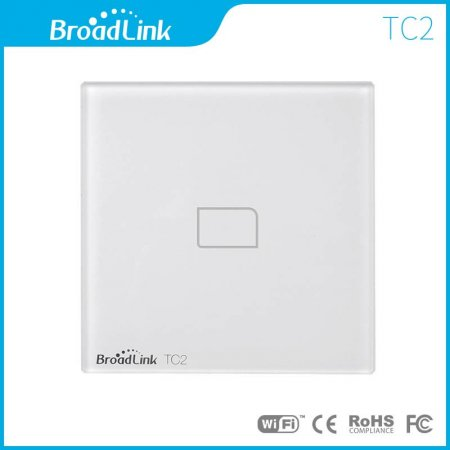 Broadlink TC2 1 2 3 Gang 433 Radio Frequency  EU/UK Standard Crystal Switch Panel Wall Light WiFi Remote Touch Switch Co