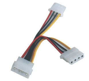 NEW IDE Molex to 2 Serial ATA SATA Y Splitter 4Pin Hard Drive Power Cable