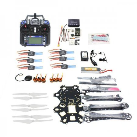 Full Set Hexacopter 6-axle Aircraft Kit HMF S550 Frame PXI PX4 Flight Control 920KV Motor GPS FS-i6 Transmitter