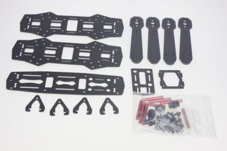 F09205 Mini Alien Across Full Carbon Fiber 250mm 250 RC Quadcopter Frame Kit Unassembled for DIY FPV Drone As ZMR250 Q25