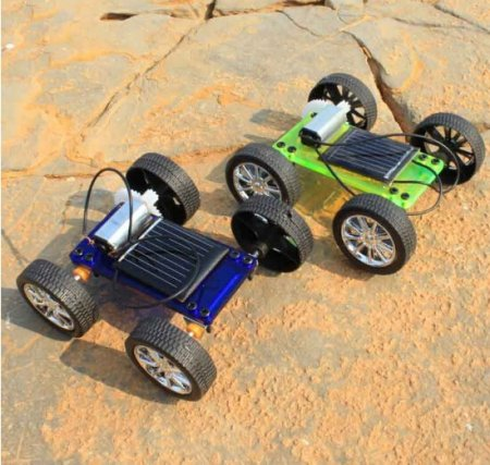Assembly Mini Solar Powered Toy DIY Car Kit Children Gift Educational Puzzle IQ Gadget Hobby Robot Newest 8x6.8x3.2 cm