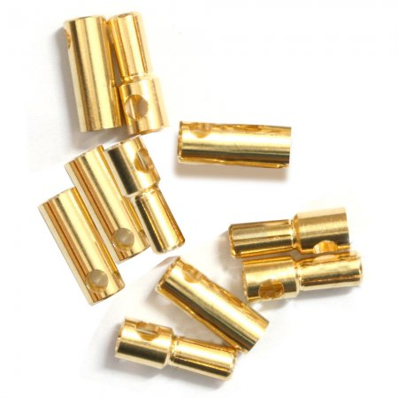 100pairs Thick Gold Plated 3.5mm Bullet Connector banana plug For ESC battery