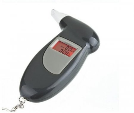 Portable LCD Backlight Digital Alcohol Breath Tester Analyze Breathalyzer with Key Chain