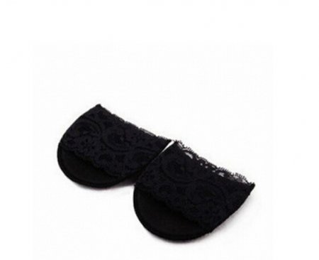 F09912 Lace Black Thickening Super Soft High Heels Cushion Protector Feet Care Forefoot Insoles Stickers Non Slip Half P