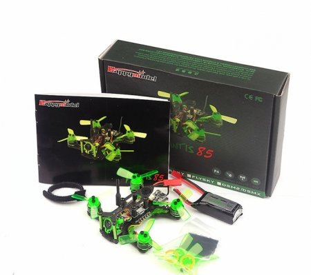 Mantis 85 Micro FPV RACING DRONE BNF with Frsky D8 / Flysky 8ch / Specktrum DSM2 Receiver