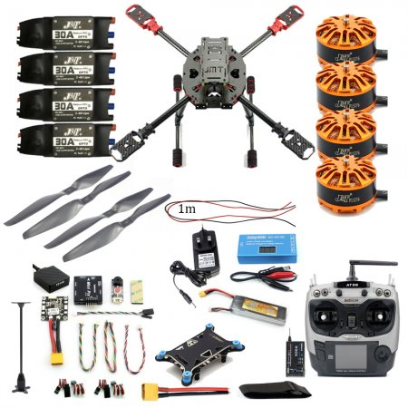 Full Set DIY 2.4GHz 4-Aixs Quadcopter RC Drone 630mm Frame Kit MINI PIX+GPS AT9S TX RX Brushless Motor ESC Altitude Hold