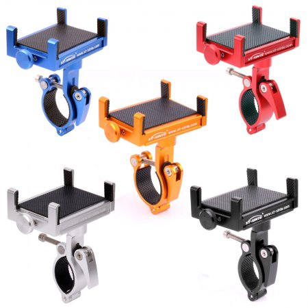 XT-XINTE Rotatable CNC Bike Motorcycle Aluminum Phone Bracket Handlebar Mount Holder