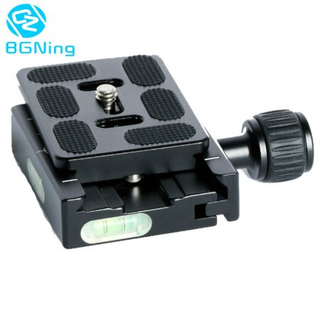 BGNING Aluminum Alloy 60mm QR Clamp + QR60 Tripod Quick Release Fastener Plate for 38mm Arca-Swiss Ball Head DSLR Camera